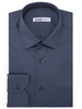 XOOS Men's gray blue polka dots dress shirt