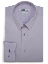 XOOS Men's lavander fitted dress shirt purple braid (Double Twisted)