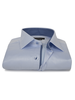 XOOS Men's CLASSIC-FIT blue dress shirt and blue patterned lining (Double Twisted)