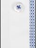 XOOS Chemise homme blanche doublure à motifs bleu ciel (Double Retors)