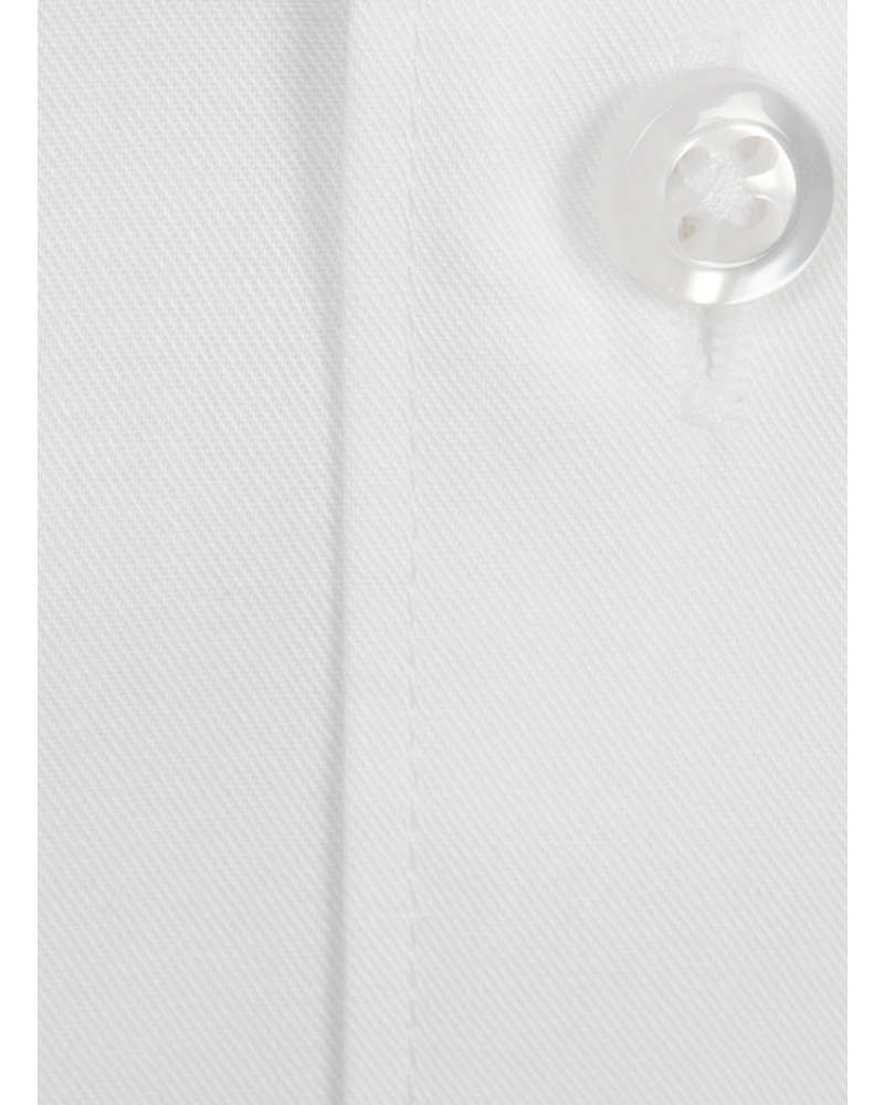 XOOS Men's white fitted dres shirt