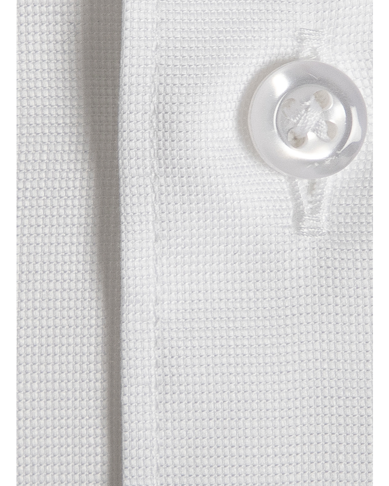 XOOS Chemise homme blanche fil à fil (Double Retors)