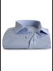 XOOS Men's blue floral patterned jacquad fitted dress shirt