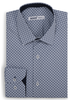 XOOS Men's navy geometrical prints fitted dress shirt