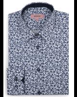XOOS WOMEN'S navy blue floral print shirt