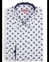 XOOS WOMEN'S navy blue bees print shirt