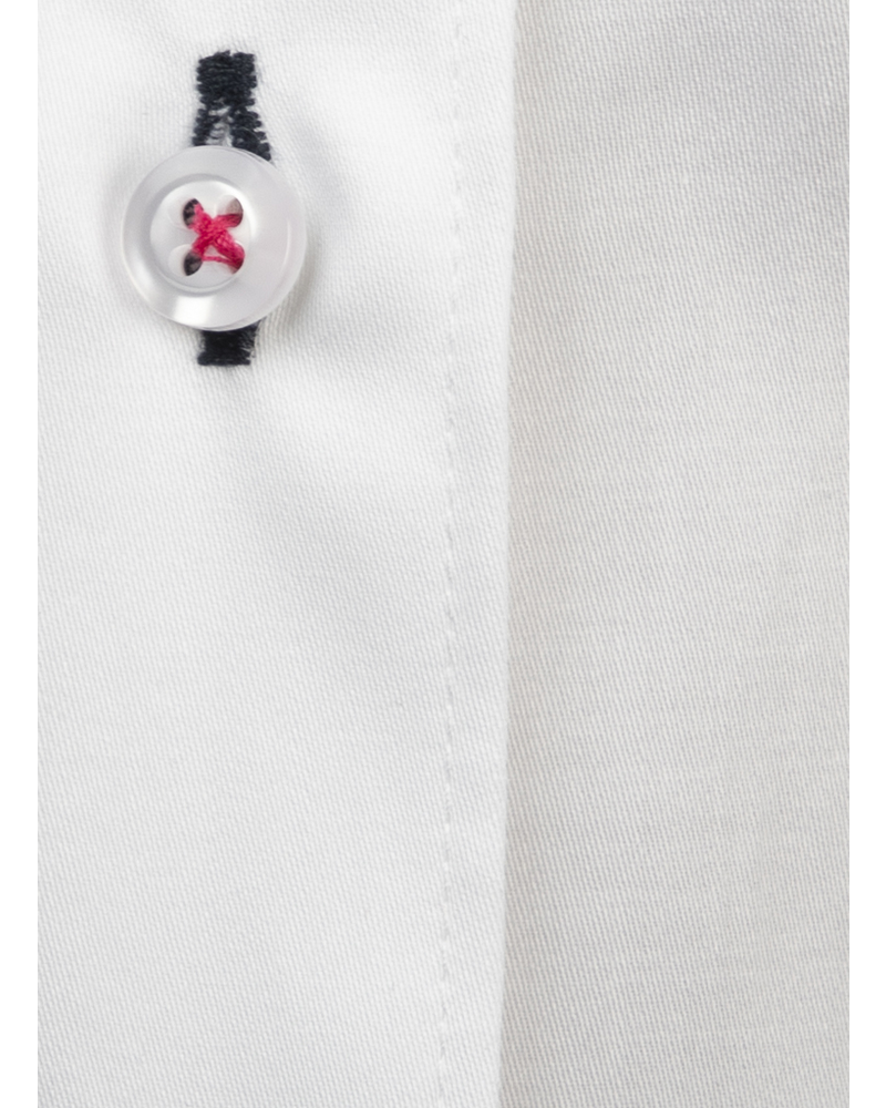 XOOS WOMEN'S white shirt with black floral lining and white buttons