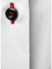 XOOS WOMEN'S white shirt with black floral lining and black buttons