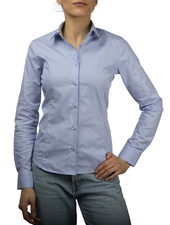 XOOS WOMEN'S light blue shirt with yellow floral lining