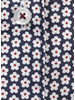 XOOS WOMEN'S navy blue and red floral print shirt