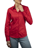 XOOS WOMEN'S red shirt with black braid