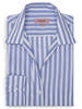 XOOS WOMEN'S blue striped blouse