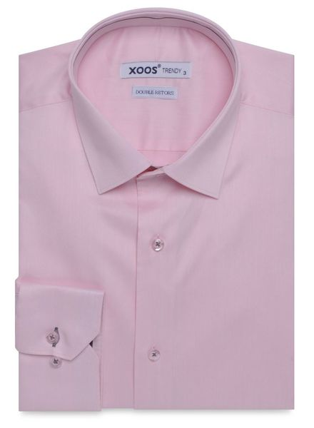 XOOS Chemise rose galon gris carbone (Double Retors)