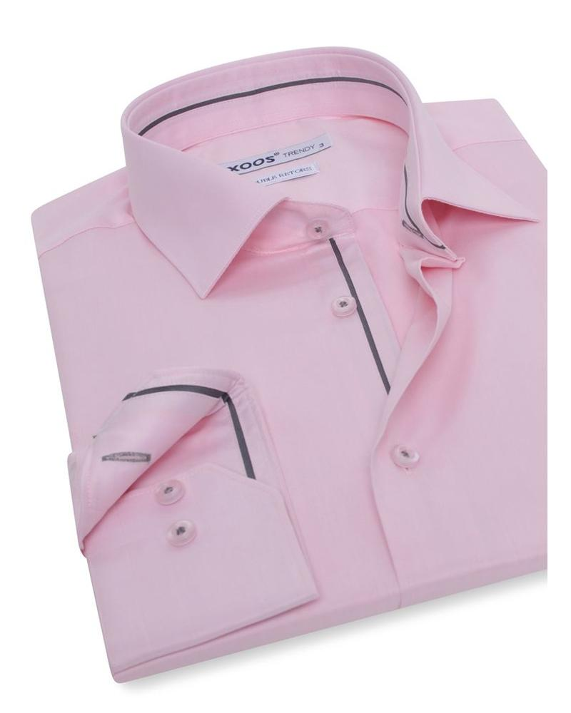 XOOS Pink shirt dark gray lining (Double Twisted)