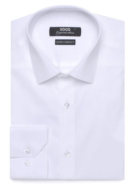 XOOS Chemise homme blanche coupe cintrée