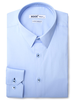 XOOS Men's light blue dress shirt navy blue braid