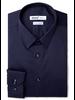 XOOS Men's navy blue dress shirt light blue braid