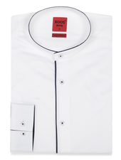 XOOS Men's white dress shirt - Officer collar