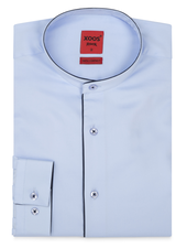 XOOS Men's light blue dress shirt - Officer collar
