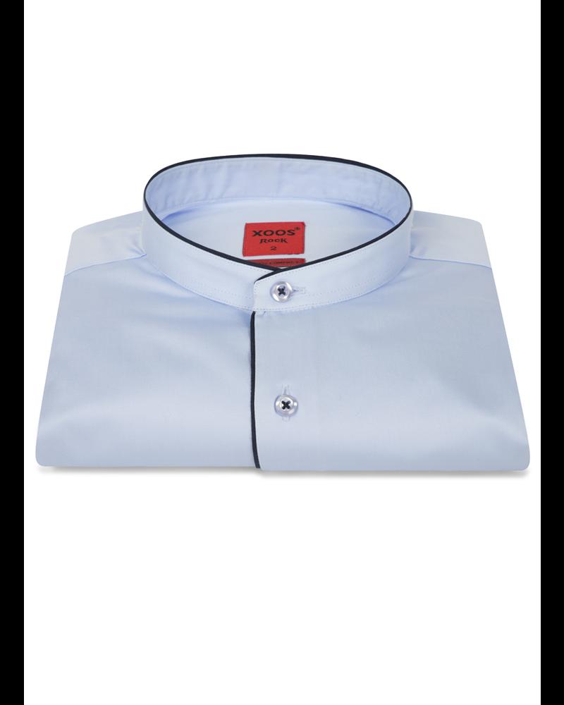 XOOS Men's light blue dress shirt - Officer collar