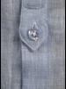 XOOS Men's light blue linnen dress shirt - Officer collar