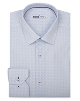 XOOS Men's light blue printed dress shirt