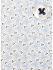 XOOS Men's light blue printed dress shirt