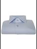 XOOS Men's light blue gabardeen cotton dress shirt (Double Twisted)