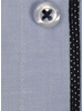 XOOS Men's light blue gabardeen cotton dress shirt polka dots lining (Double Twisted)