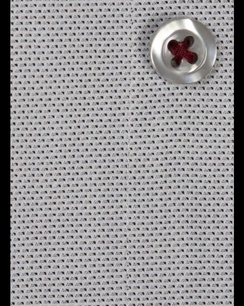 XOOS Men's gray polka dots dress shirt paisley lining