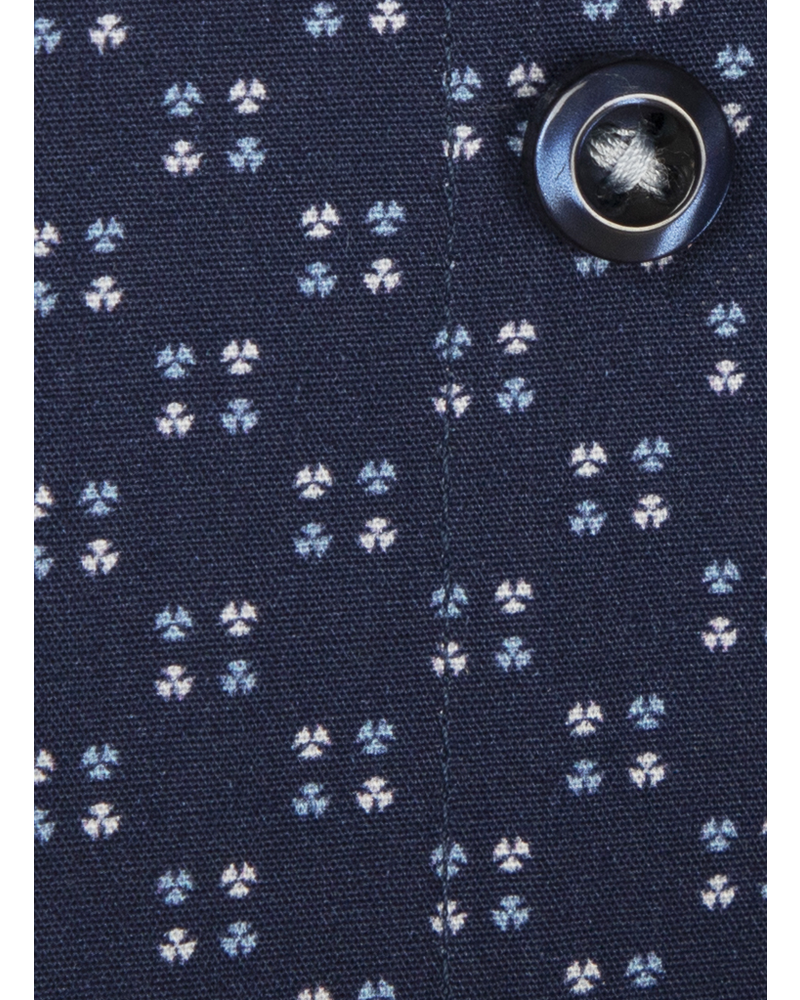 XOOS Men's navy blue print dress shirt