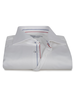 XOOS Chemise homme blanche galon tricolore