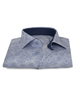 XOOS Men's navy floral print dress shirt