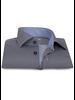 XOOS Men's blue dress shirt navy micro circle prints