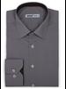 XOOS Men's navy and brown prints dress shirt