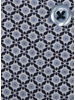XOOS Men's navy and blue prints dress shirt