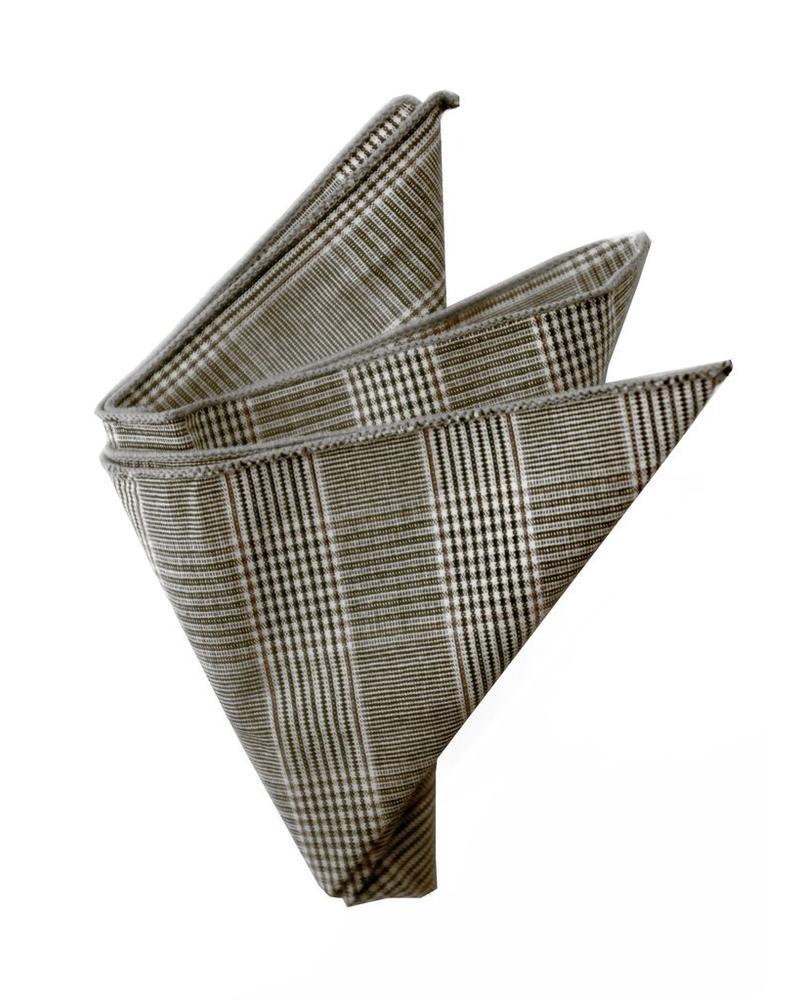 Pochette de costume Prince de Galle gris et marron