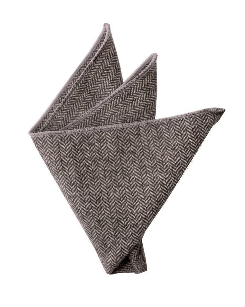 Gray chevron pocket square