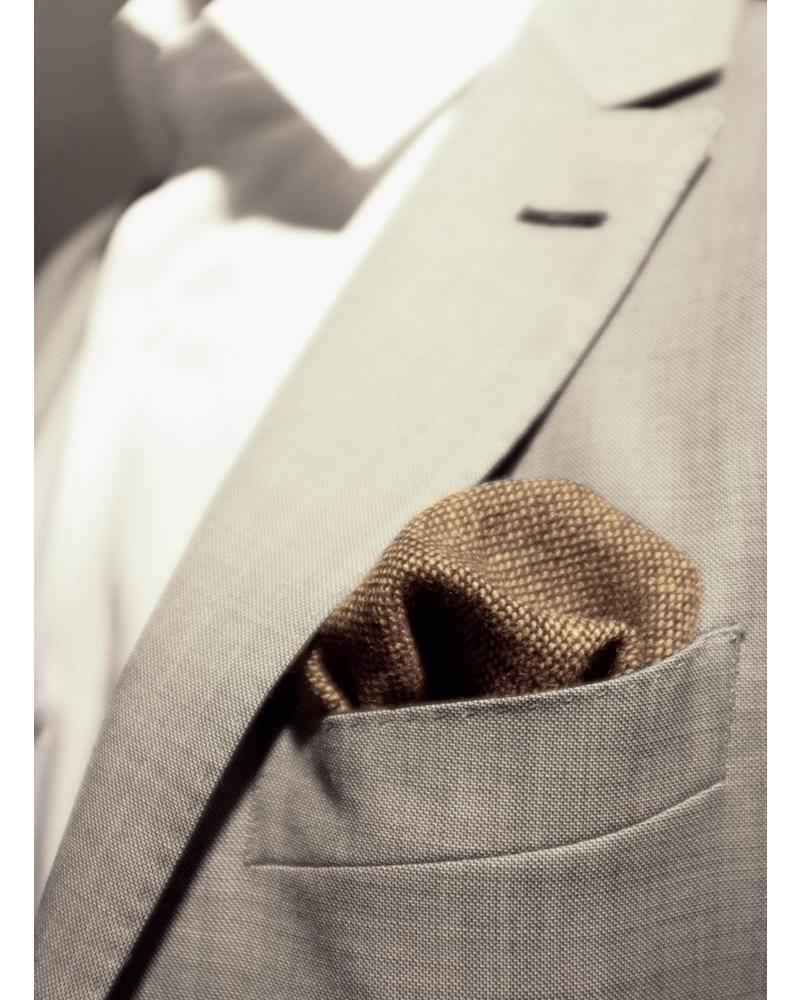 Brown caviar pocket square