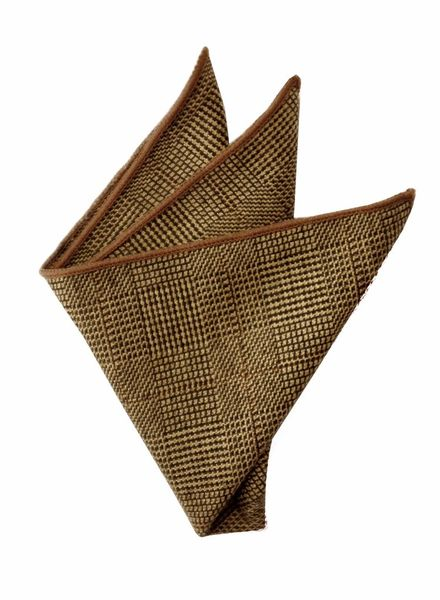 Pochette de costume caviar marron à motifs