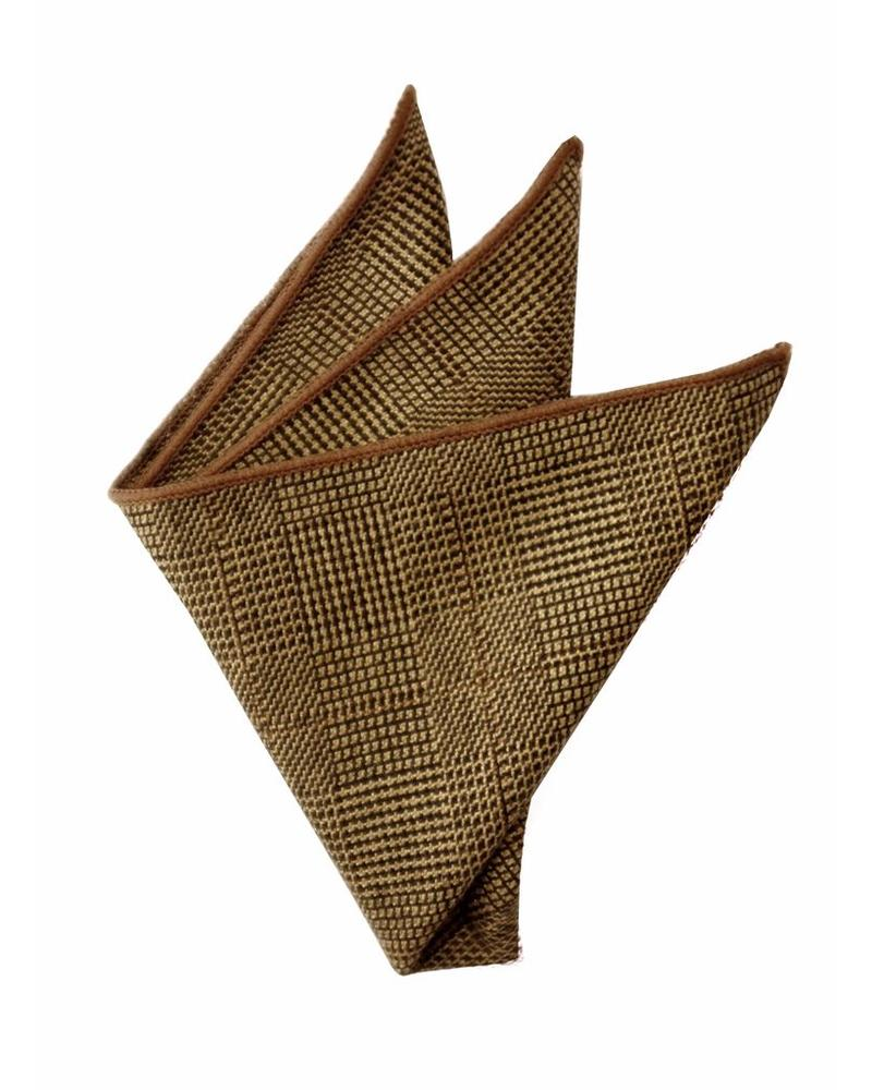 Copper caviar patterned pocket square