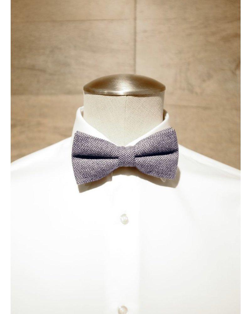 Chevron light gray bow tie