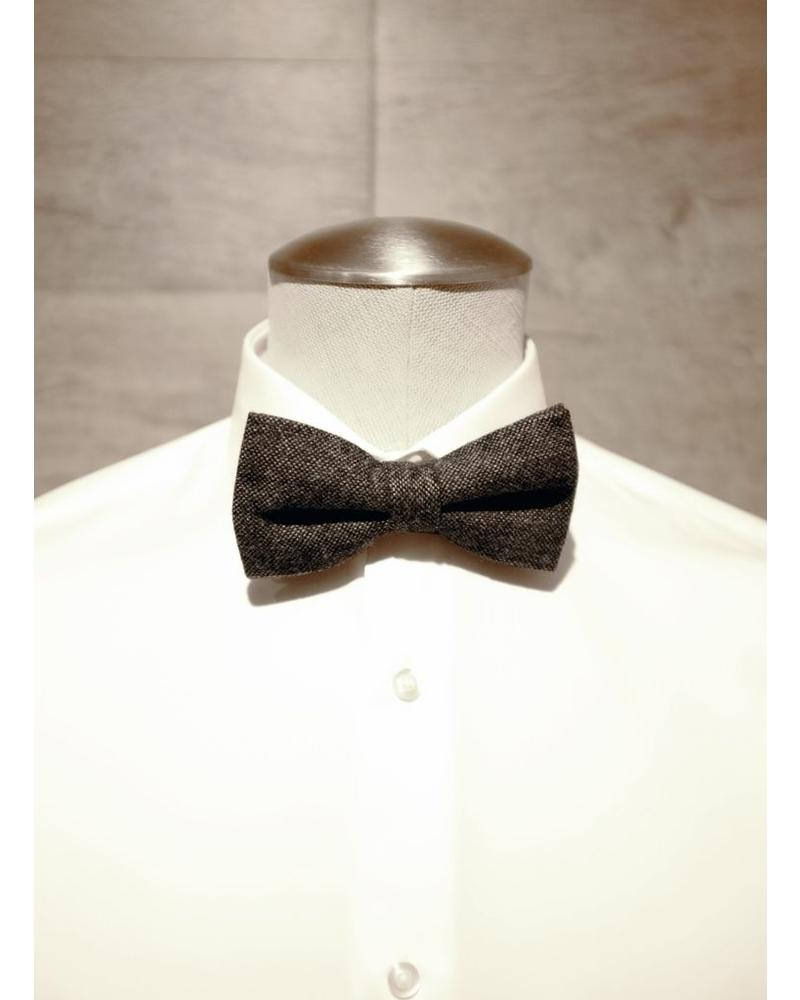 Caviar gray blue bow tie