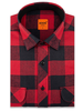 XOOS Men's Red and black checkered lumberjack flannel shirt