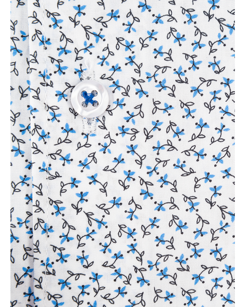 XOOS Men's ligh blue floral print and printed lining