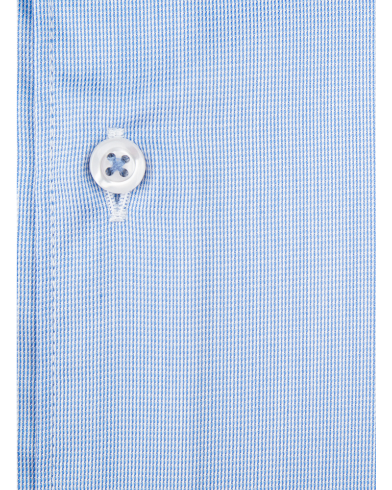 XOOS Men's blue Oxford French cuffs dress shirt (Double Twisted)