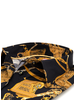 XOOS WOMEN'S black and gold printed blouse