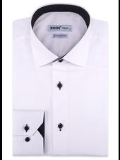 XOOS Chemise blanche doublure noire à pois (Double Retors)