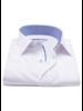 XOOS Chemise homme blanche doublure tissée à motif bleu (Double Retors)