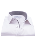 XOOS Men's white dress shirt gray woven checkered lining (Double Twisted)